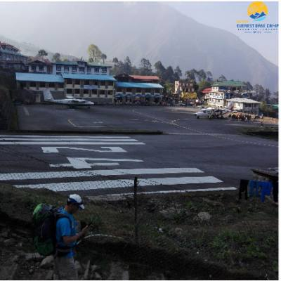 Lukla Airport the Starting point of the Everest Trekking.